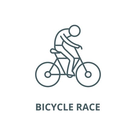 Bicycle race vector line icon, outline concept, linear sign Illustration