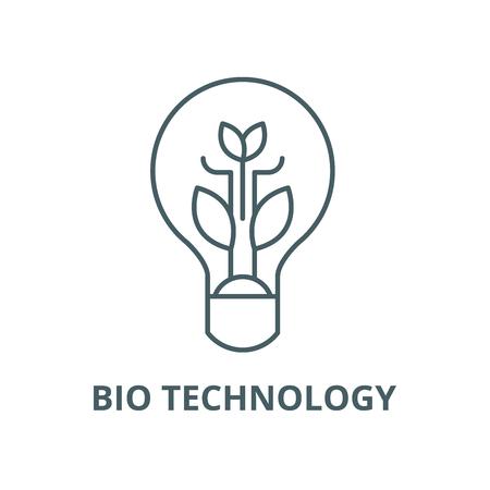 Bio technologia wektor ikona linii, koncepcja konspektu, znak liniowy