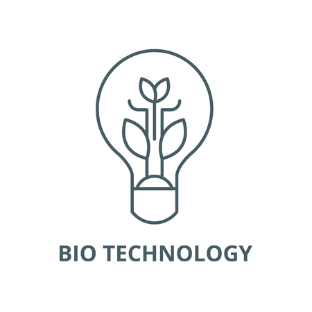 Bio technology vector line icon, outline concept, linear sign Ilustracja