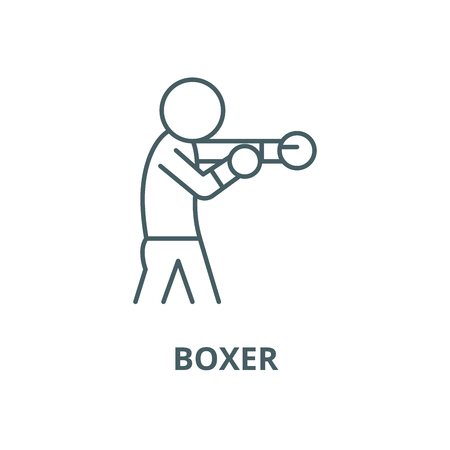 Boxer vector line icon, outline concept, linear sign
