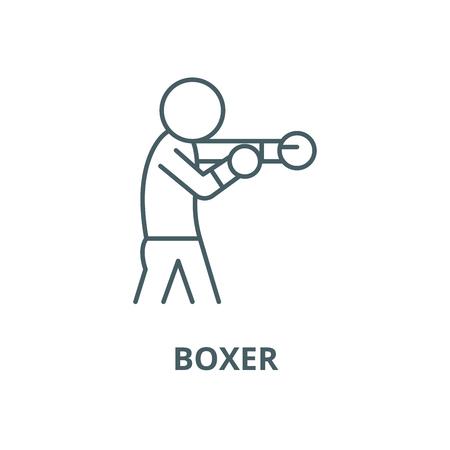 Boxer vector line icon, outline concept, linear sign