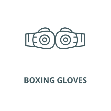 Boxing gloves vector line icon, outline concept, linear sign
