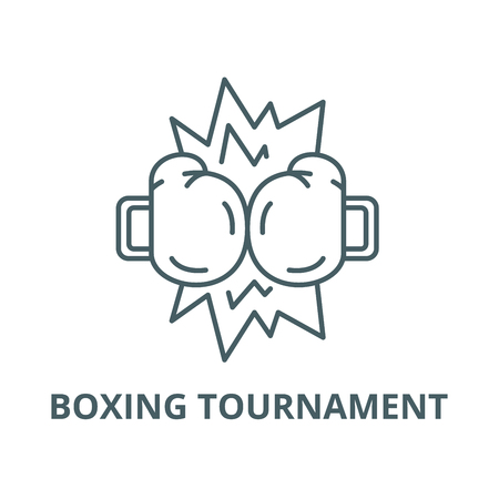 Boxing tournament vector line icon, outline concept, linear sign