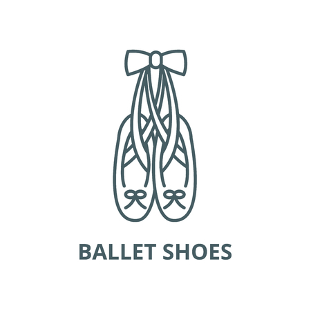 Ballet shoes vector line icon, outline concept, linear sign