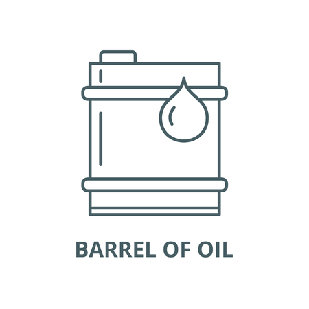 Barrel of oil vector line icon, outline concept, linear sign