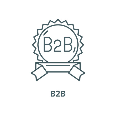 B2b vector line icon, outline concept, linear sign