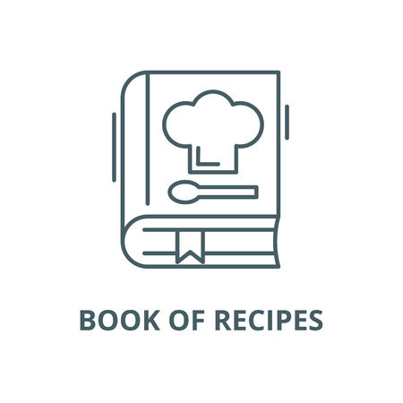 Book of recipes vector line icon, outline concept, linear sign