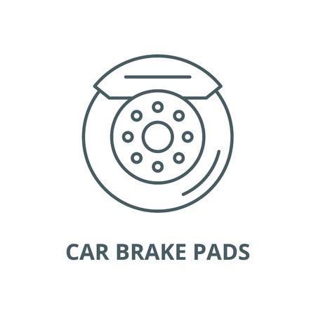 Car brake pads vector line icon, outline concept, linear sign Illustration