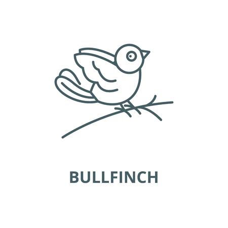 Bullfinch vector line icon, outline concept, linear sign
