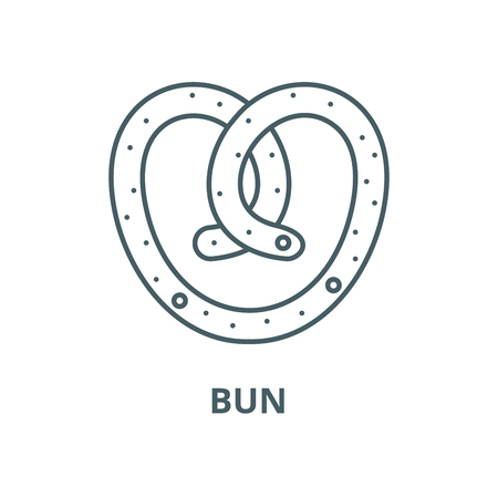 Bun vector line icon, outline concept, linear sign Ilustrace
