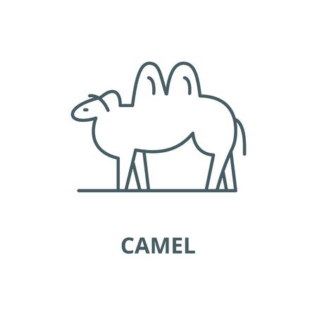 Camel vector line icon, outline concept, linear sign Ilustração