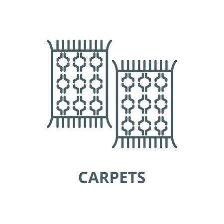 Carpets vector line icon, outline concept, linear sign