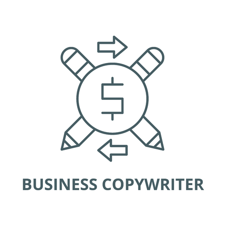 Business copywriter vector line icon, outline concept, linear sign