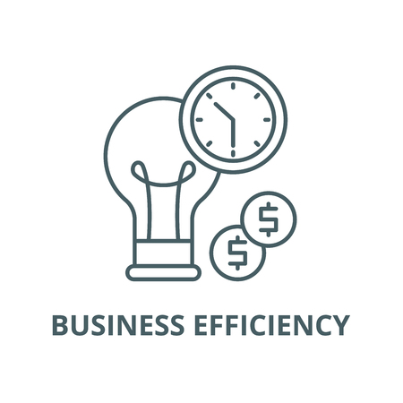 Business efficiency vector line icon, outline concept, linear sign
