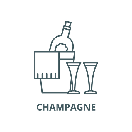 Champagne vector line icon, outline concept, linear sign