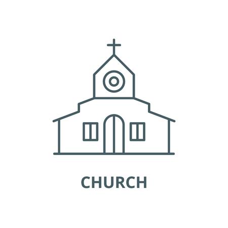 Church vector line icon, outline concept, linear sign Standard-Bild - 122418690