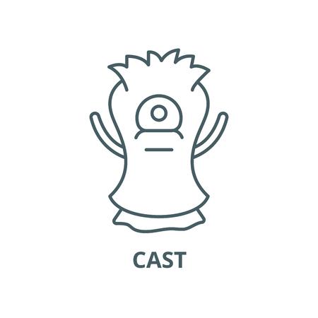 Cast vector line icon, outline concept, linear sign Ilustração