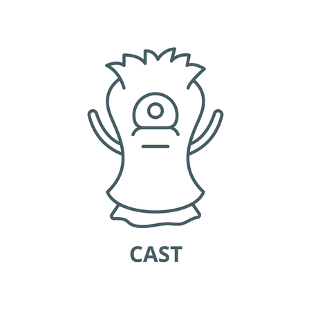 Cast vector line icon, outline concept, linear sign Illustration