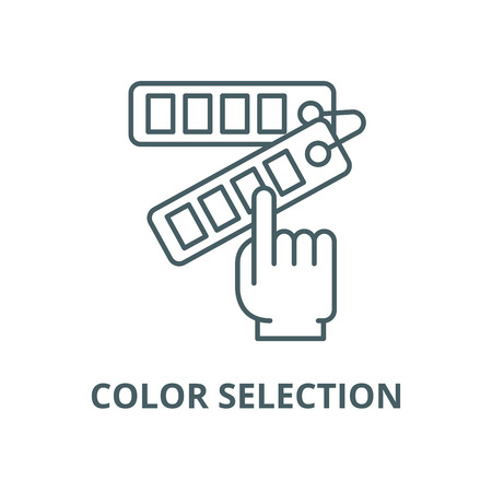 Color selection vector line icon, outline concept, linear sign Illustration