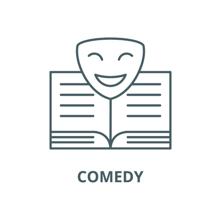 Comedy vector line icon, outline concept, linear sign