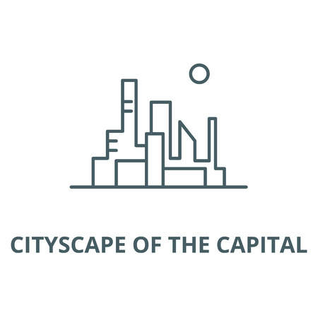 Cityscape of the capital vector line icon, outline concept, linear sign 일러스트