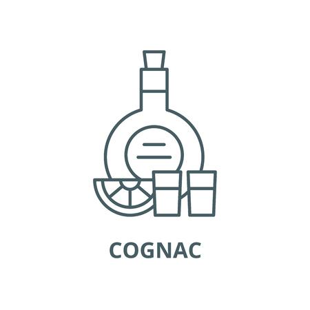 Cognac vector line icon, outline concept, linear sign