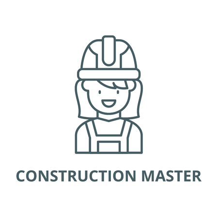 Construction master vector line icon, outline concept, linear sign Illustration