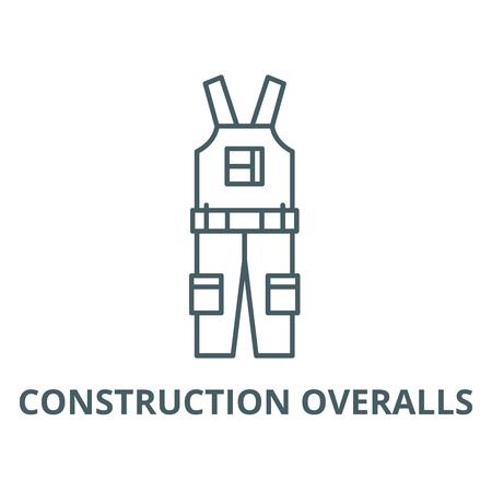 L'icône de la ligne du vecteur des combinaisons de construction, concept de contour, signe linéaire
