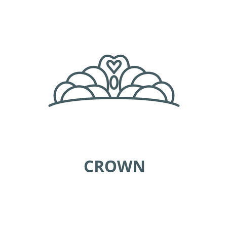Crown vector line icon, outline concept, linear sign Illustration