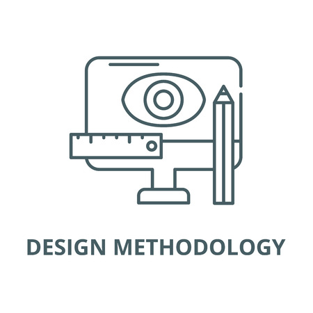 Design methodology vector line icon, outline concept, linear sign
