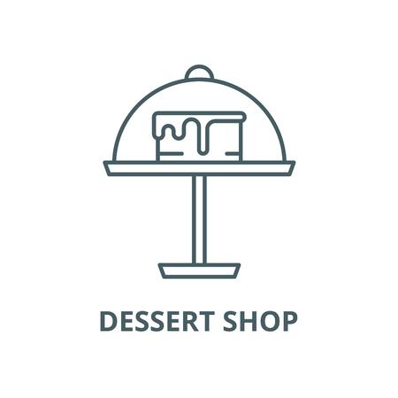 Dessert shop vector line icon, outline concept, linear sign