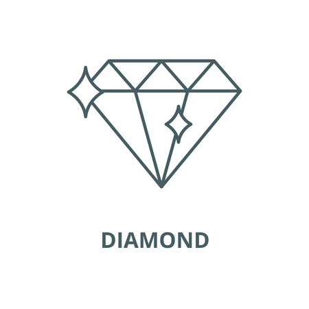 Diamond vector line icon, outline concept, linear sign Reklamní fotografie - 122418907