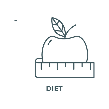 Diet vector line icon, outline concept, linear sign  イラスト・ベクター素材