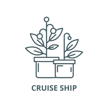 Cruise ship vector line icon, outline concept, linear sign Imagens - 122419052