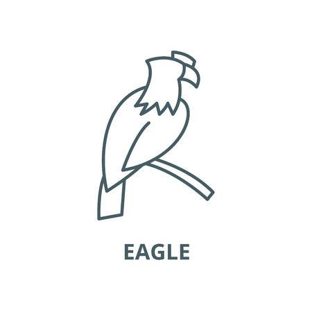 Eagle vector line icon, outline concept, linear sign