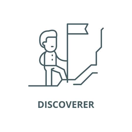 Discoverer vector line icon, outline concept, linear sign Foto de archivo - 122419065