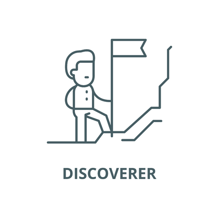 Discoverer vector line icon, outline concept, linear sign