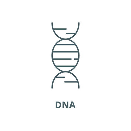 Dna vector line icon, outline concept, linear sign