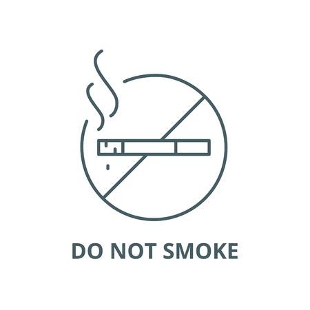 Do not smoke vector line icon, outline concept, linear sign