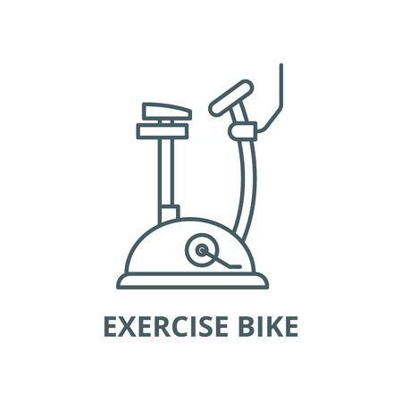 Exercise bike vector line icon, outline concept, linear sign Ilustração