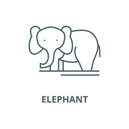 Elephant vector line icon, outline concept, linear sign