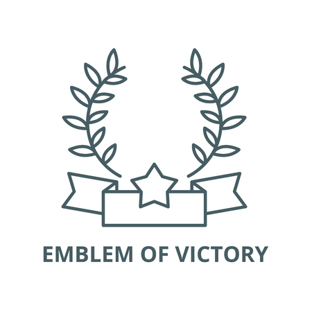 Emblem of victory vector line icon, outline concept, linear sign