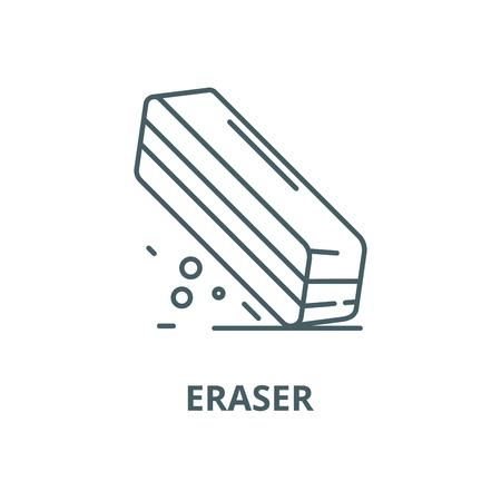 L'icône de la ligne du vecteur de la gomme, concept de contour, signe linéaire