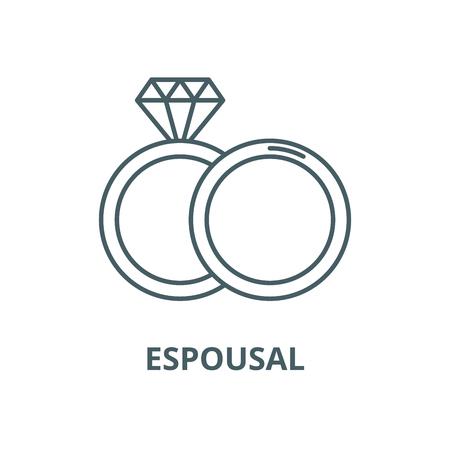 Espousal vector line icon, outline concept, linear sign