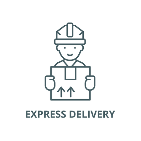 Express delivery vector line icon, outline concept, linear sign