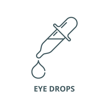 Eye drops vector line icon, outline concept, linear sign