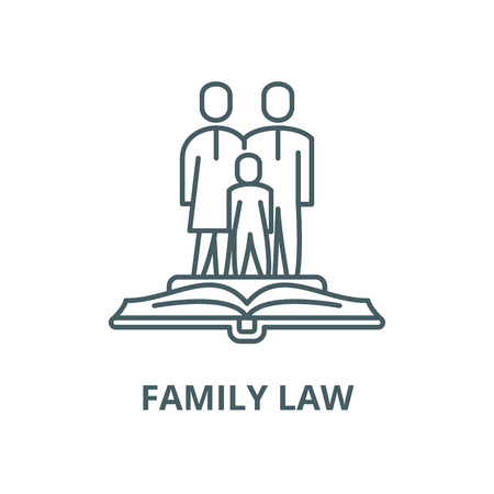 Family law vector line icon, outline concept, linear sign