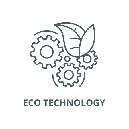 Eco technology vector line icon, outline concept, linear sign