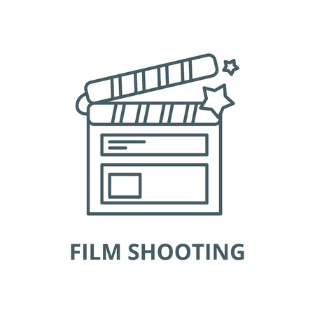 Film shooting vector line icon, outline concept, linear sign Illustration
