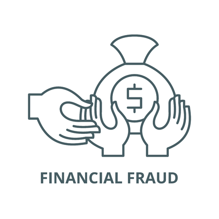 Financial fraud vector line icon, outline concept, linear sign
